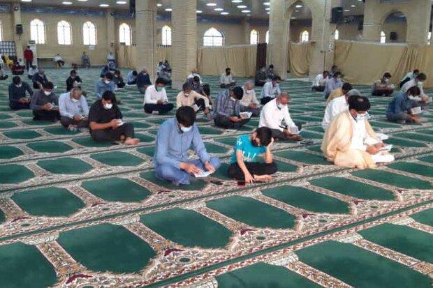 مراسم دعای عرفه با رعایت پروتکل های بهداشتی در گناوه برگزار شد