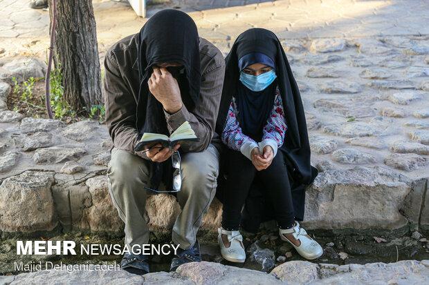 مراسم دعای عرفه در یزد بصورت خانوادگی