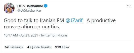 Iran, India discuss Afghanistan, mutual ties