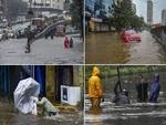 بھارتی ریاستوں اڑیسہ اور آندھرا پردیش کے ساحل سے سمندری طوفان گلاب ٹکرا گيا