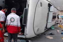 سانحه اتوبوس در جاده هراز ۳ کشته و ۳۳ مصدوم برجای گذاشت