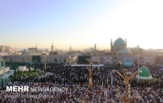 اقامه نماز عید سعید قربان در حرم مطهر رضوی