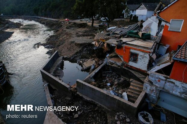 ویرانی سیل اروپا