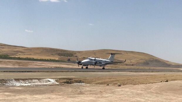 اولین هواپیما در فرودگاه سقز به زمین نشست
