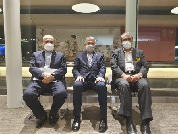 وزیر ورزش و رئیس کمیته ملی المپیک وارد توکیو شدند