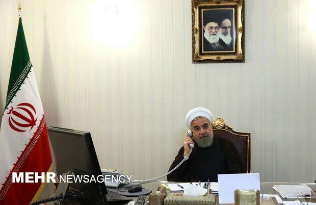 Ruhani Türk mevkidaşı Erdoğan ile telefonda görüştü