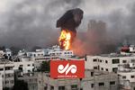 Gazze'deki patlamadan görüntüler