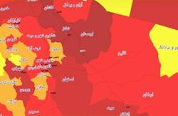۱۵ شهر اصفهان در وضعیت قرمز کرونا / وضعیت خور زرد است