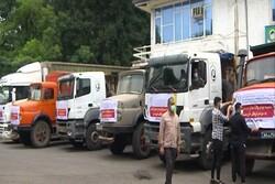 ارسال ۱۴۳ کانتینر آب و ۵۰ هزار عدد آب معدنی به خوزستان