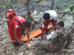 ۷ نیروی اطفای حریق جنگل های گالیکش مصدوم شدند