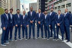 حضور کامل و یکدست تیم ملی بسکتبال در افتتاحیه