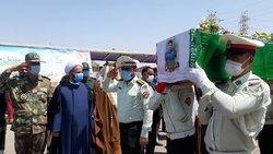 اہواز میں مدافع وطن شہید کی تشییع جنازہ