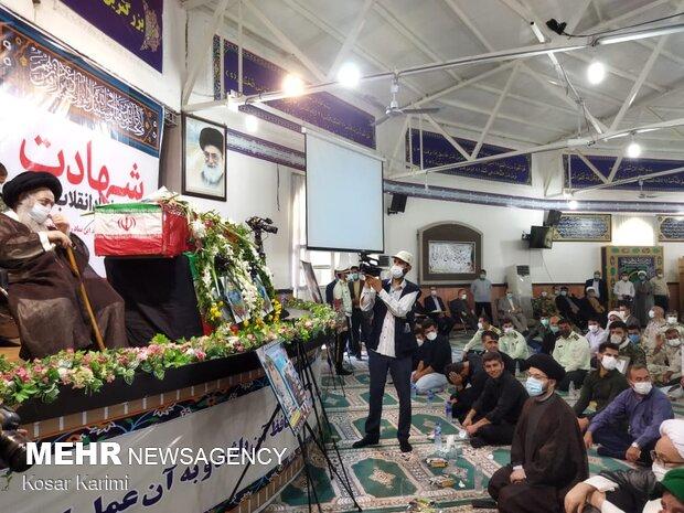 مراسم تشییع پیکر شهید ضرغام پرست در اهواز