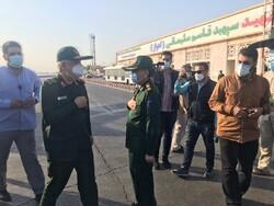 سپاہ پاسداران انقلاب اسلامی کے سربراہ خوزستان پہنچ گئے