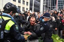 تظاهرات رفضا لتدابير الإغلاق للحد من انتشار كورونا