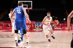 دیدار تیم ملی بسکتبال ایران و چک