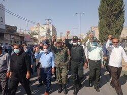 راهپیمایی مردم ایذه در محکومیت آشوب طلبان برگزار شد