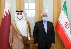تہران میں قطر کے وزیر خارجہ کی ایرانی وزیر خارجہ سے ملاقات