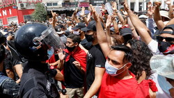 Anti-governmental demonstrations held in Tunisia