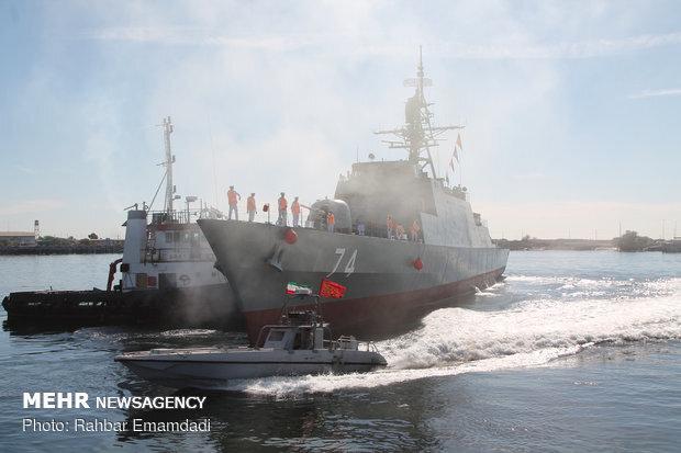 """ایرانی  بحری کشتی سہند روسی بندرگاہ  """"سینٹ پیٹرزبرگ"""" پہنچ گئی"""