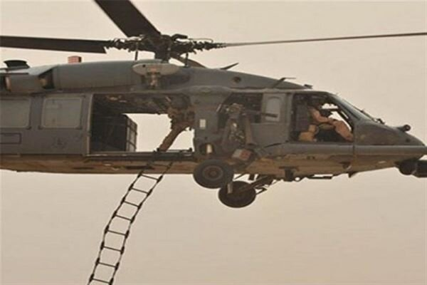 ISIL air assault by US helicopter recorded by thermal cameras