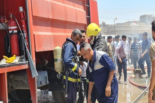 آتش سوزی در بیمارستانی در استان واسط عراق