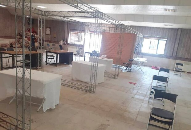 آمادهسازی مرکز تجمیعی واکسیناسیون فرهنگیان کرج