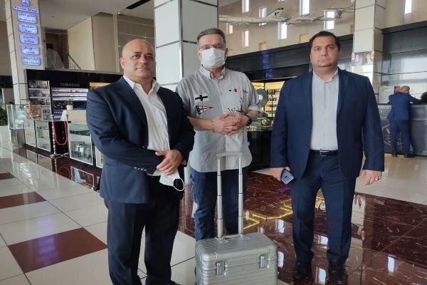 President of World Powerlifting Federation arrives Iran
