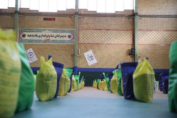 توزیع ۵۰۰ بسته ارزاق در مناطق جنوبی و کم برخوردار تهران