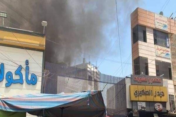 Fire breaks out in Kadhimiya marketplace