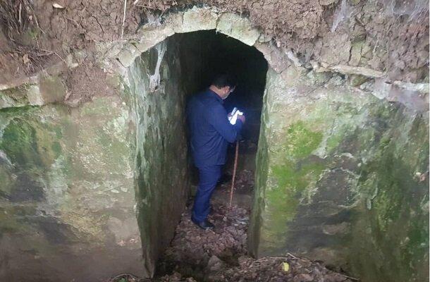 کشف بقایای تونلی تاریخی در روستای گلسرک رشت
