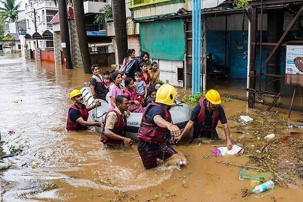 حداقل ۱۶۴ نفر بر اثر وقوع سیلاب شدید در هند کشته شده اند