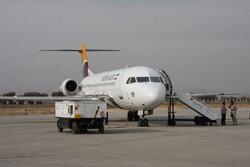 هفتگی بیش از ۱۰۰پرواز از فرودگاه شهید اشرفی کرمانشاه انجام میشود