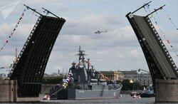 جشن روز نیروی دریایی در شهر های روسیه