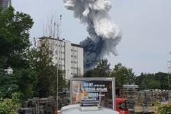 وقوع انفجار شدید در کارخانه مواد شیمیایی در آلمان