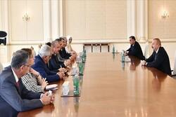 دیدار و گفتگوی رئیس مجلس ترکیه و «الهام علی اف» در باکو