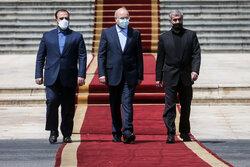 بدرقه رسمی رئیس مجلس شورای اسلامی در سفر به سوریه