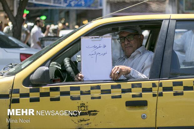 از حسین هاشم زاده 50 ساله که هشت سال است راننده تاکسی می باشد پرسیده شد اسم حضرت علی را که می شنوی چه چیزی  برای  شما یاد آوری می شود که علی را مظهر عدالت و غرور عالم شیعه می دانست .