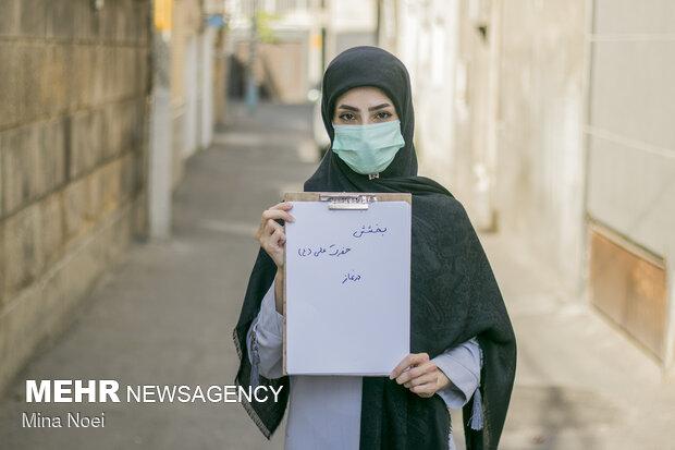از خانم رحیمی که 6 سال در حرفه خبرنگاری فعالیت دارد پرسیده شد اسم حضرت علی را که می شنوی چه چیزی برای شما یاد آوری می شود که  ازبخشش حضرت علی (ع)  در نماز نام برد .