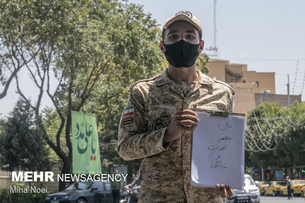 از سرباز 21 ساله تبریزی  پرسیده شد اسم حضرت علی را که می شنوی چه چیزی  برای  شما یاد آوری می شود که از غیرت و مردانگی علی (ع) نام برد .