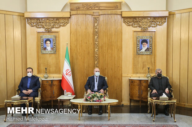 Iranian Parliament Speaker seen off for Syria's visit