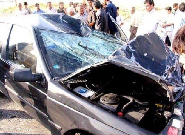 تصادف در محور جاده اشتهارد-بوئین زهرا با یک کشته و ۴مجروح