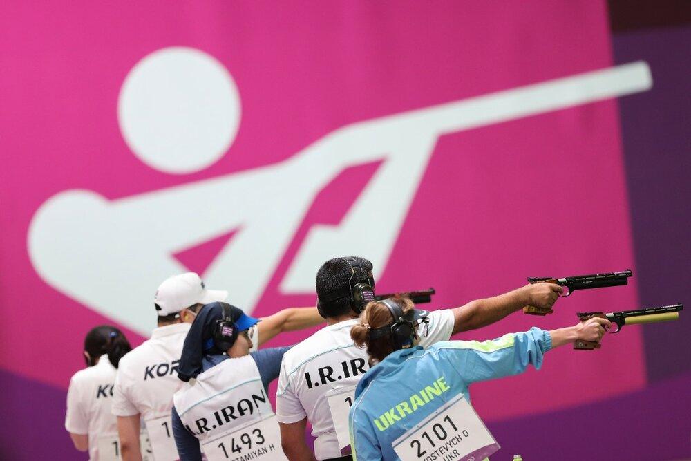 تیم میکس تپانچه بادی ١٠ متر ایران به مرحله نیمه نهایی صعود کرد