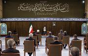 رہبر معظم انقلاب اسلامی کے ساتھ  موجودہ کابینہ کی آخری ملاقات