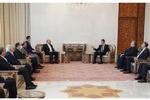 ایرانی پارلیمنٹ کے اسپیکر قالیباف کی شام کے صدر بشار اسد سے ملاقات