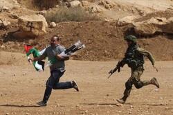 یورش خشونت بار نظامیان صهیونیست به تظاهرات در کرانه باختری