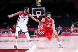 تیم ملی بسکتبال ایران و آمریکا - المپیک توکیو