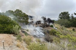 سقوط هواپیمای آموزشی در چادگان / خلبان و کمک خلبان آسیب دیدند