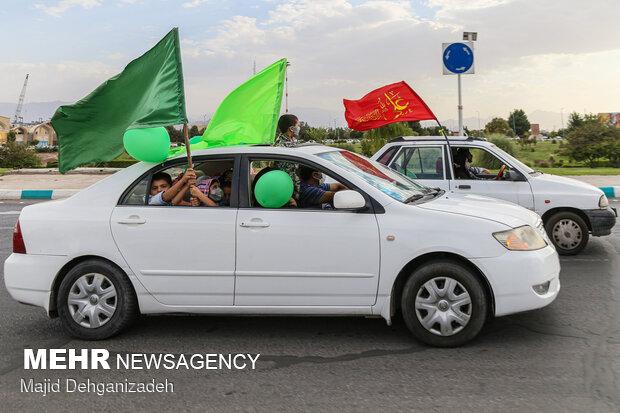 کاروان شادی عید غدیر در یزد