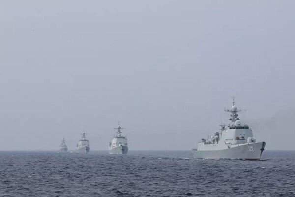 رزمایش نظامی نیروی دریایی «ارتش آزادیبخش خلق» در دریای جنوبی چین